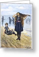 Womens Fashion, 1886 Greeting Card