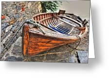 Wood Boat Greeting Card