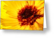 Yellow Floral 01 Greeting Card