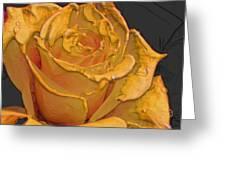 Yellow Rose Art Greeting Card