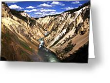 Yellowstone River Below Lower Falls  Greeting Card