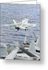 An Fa-18e Super Hornet Launches Greeting Card