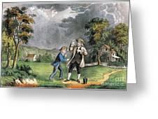 Benjamin Franklin American Polymath Greeting Card