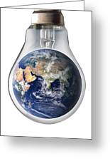 Global Warming, Conceptual Image Greeting Card