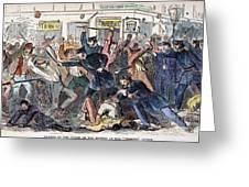 New York: Draft Riots Greeting Card