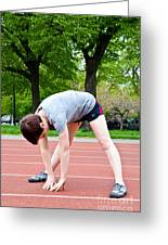 Stretching Exercises Greeting Card