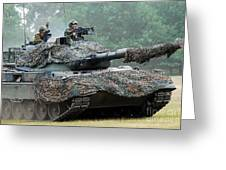 The Leopard 1a5 Main Battle Tank Greeting Card