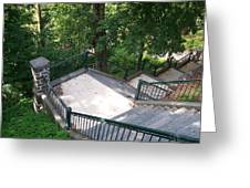 100 Steps At The Wissahickon Greeting Card