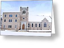 1001-0369 Cherry Street Baptist Of Clarksville Greeting Card by Randy Forrester