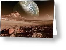 Earth-like Planet, Artwork Greeting Card