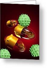 Medical Nanorobots, Artwork Greeting Card