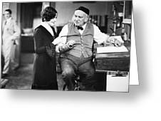 Silent Film Still: Offices Greeting Card by Granger