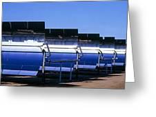 Solar Power Plant, California, Usa Greeting Card