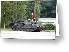 The Leopard 1a5 Of The Belgian Army Greeting Card