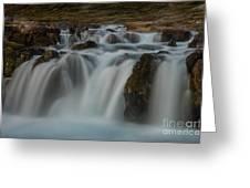 Waterfall Iceland Greeting Card