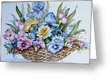 1119 B Flower Basket Greeting Card