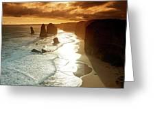 12 Apostles At Sunset Greeting Card
