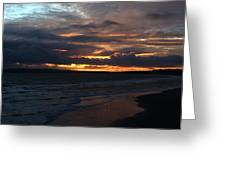 Bournemouth Sunset Greeting Card