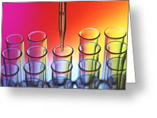 Laboratory Glassware Greeting Card