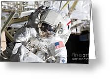 Astronaut Participates Greeting Card