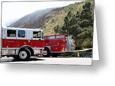 Barnett Fire Greeting Card