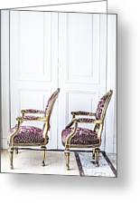 Luxury Antique Chair. Greeting Card