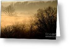 Misty Mountain Sunrise Greeting Card