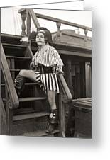 Silent Film Still: Pirates Greeting Card by Granger