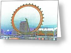 London Eye Art Greeting Card