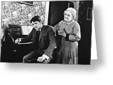 Silent Still: Man & Woman Greeting Card