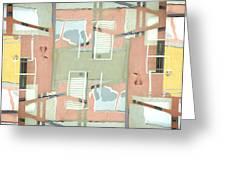 Urban Abstract San Diego Greeting Card