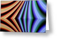 Fractal Reflection Greeting Card by Odon Czintos