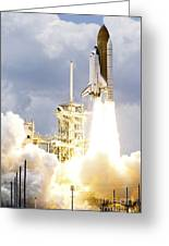 Space Shuttle Atlantis Lifts Greeting Card