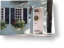 17 Tradd Street Window Box Greeting Card by Lori Kesten