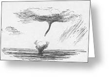 Waterspout Greeting Card