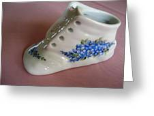 1706 Baby Shoe Blue  Greeting Card