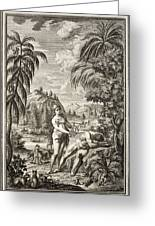 1731 Scheuchzer Creation Adam & Eve Greeting Card by Paul D Stewart