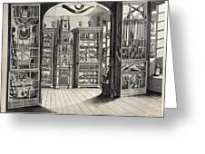 1788 Richard Greene's Museum At Lichfield Greeting Card