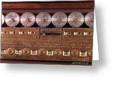 17th Century Calculating Machine Greeting Card