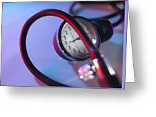 Blood Pressure Gauge Greeting Card