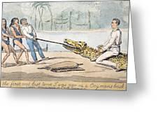1826 Naturalist Charles Waterton & Caiman Greeting Card