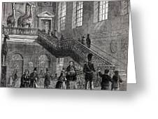 1830 Montagu House Natural History Museum Greeting Card