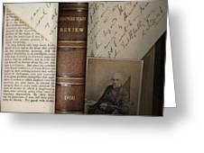 1860 Adam Sedgwick Review Of Darwin Greeting Card