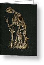 1868 Waterhouse Hawkins & Hadrosaur Gilt Greeting Card