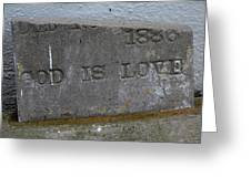 1886 God Is Love Stone Greeting Card