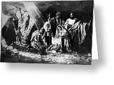 1898 Artwork Of Nativity Scene At Nativity Church Greeting Card