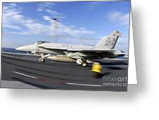An Fa-18c Hornet Launches Greeting Card