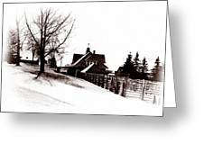 1900 Farm Home Greeting Card