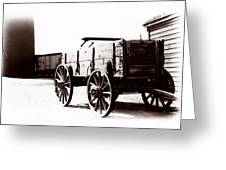 1900 Wagon Greeting Card
