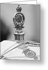 1909 Rolls-royce Silver Ghost Hood Ornament 2 Greeting Card